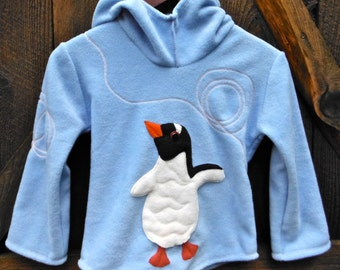 Children's Fleece Penguin Hoodie - Made to Order