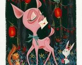 Deer Sweetheart giclée print