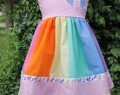 CLEARANCE Pinkie Pie My Little Pony MLP Inspired Cap Sleeve Dress Size 3T