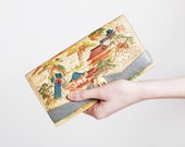 Vintage 40s 50s Leather Japanese Clutch Wallet