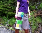 Patchwork Hemp Organic Cotton Simple Bright Moon Skirt