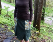 Hemp skirt, hemp/Organic Cotton Skirt