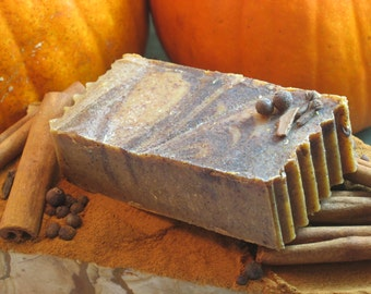 Pumpkin Vanilla Spice Soap Organic Handmade- 5-6 oz. bar - Only Essential Oils Used- No Synthetic Fragrances