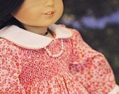 """Doll smocked dress heirloom pattern - Mini Aura Lee - 15"""" AND 18"""" doll sizes included"""