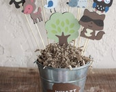 Forest friends and woodland animal centerpiece