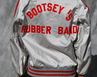 "Vintage 70's Concert tour jacket BOOTSY 'S RUBBER BAND William Earl ""Bootsy"" Collins george clinton 1976 band jacket unisex sL by thekaliman"