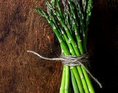 Asparagus - Green Vegetables - 11x14 affordable art - Veggies - Home Decor - From The Garden - Rustic Decor - Kitchen Decor - Natural Tones - PhotoLadz