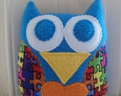 Autism Awareness Owl - Puzzle Piece Owl