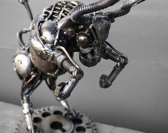 Recycled Metal Taurus (small item) --- Zodiac