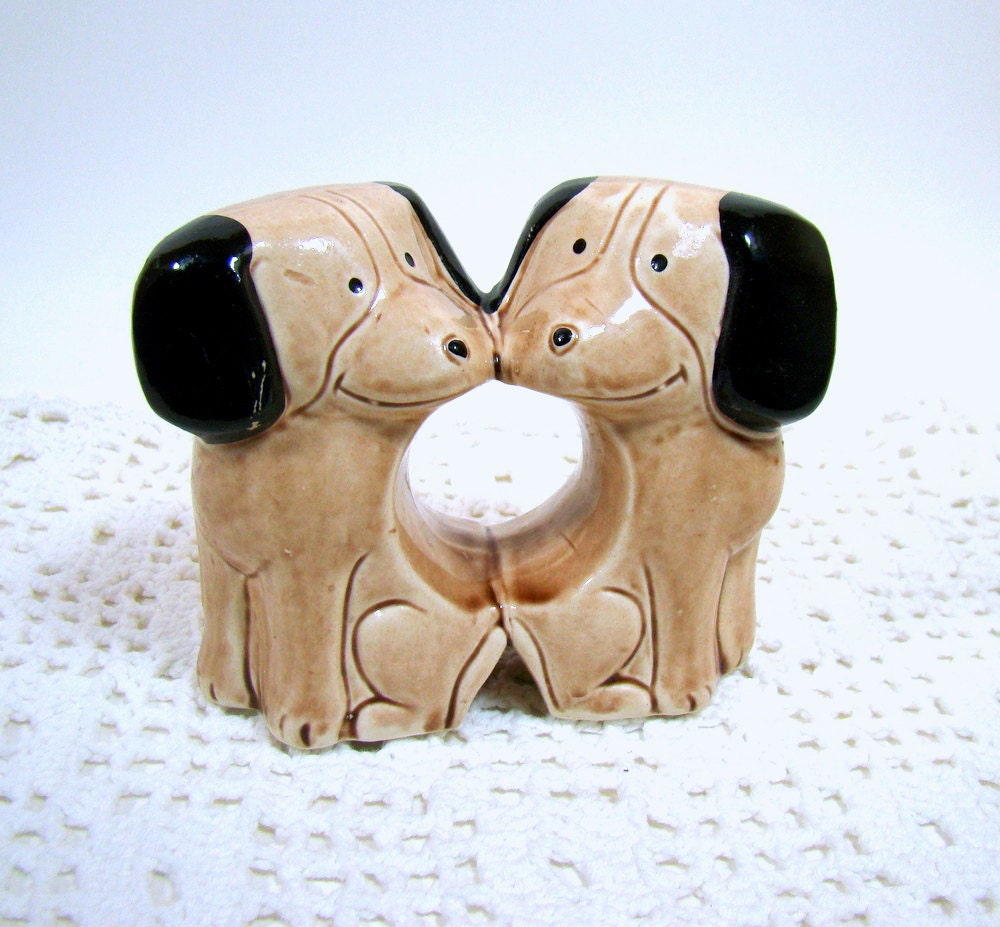 Dog Salt And Pepper Shakers Novelty Salt And By Magnoliasattic