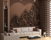 Vinyl Wall Decal Sticker Abstract Mountains OSAA919m