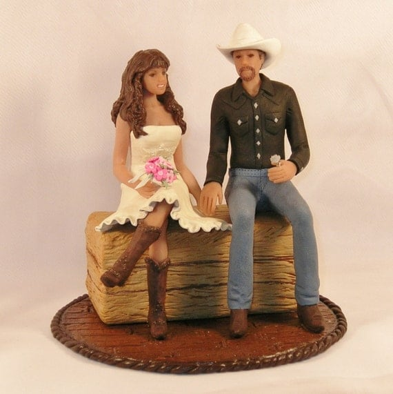 western cake toppers for wedding cakes items similar to country western wedding cake topper with 27015