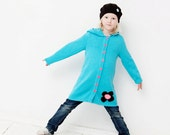 Girls hoody jacket - CUSTOM MADE - size, color, appliques - personalized