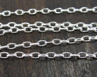 18 Inch Silver Filled 1x 2 mm Finished Cable Chain