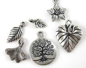 Silver TierraCast Nature Charm Mix