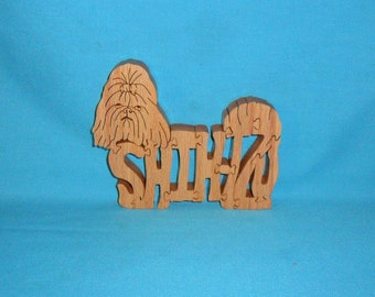 Shih-Tzu Dog Breed Scroll Saw Wooden Puzzle
