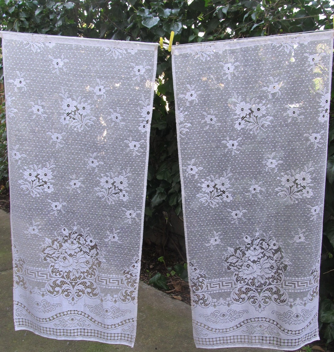 White Lace Window Curtains French Lace Curtain Panels