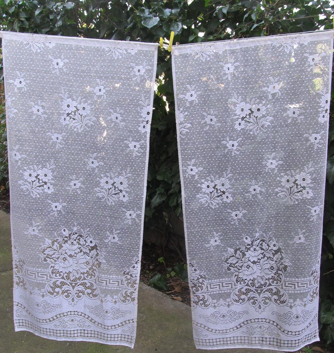 Window lace bottom tiers panels