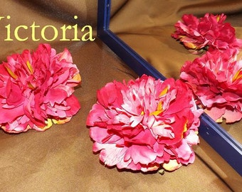 Floral Hair Clips, Great for Tribal/Fusion/ATS Bellydance, Victoria