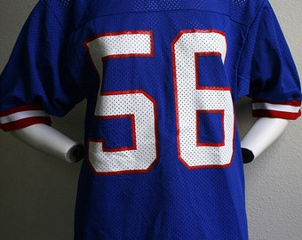 1980's New York Giants Lawrence Taylor Hall of Fame NFL football Sand-Knit by Macgregor mesh nylon unisex jersey no. 56  - men's sz M