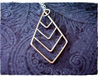 Silver Chevron Necklace - Sterling Silver Chevron Charm on a Delicate Sterling Silver Cable Chain or Charm Only