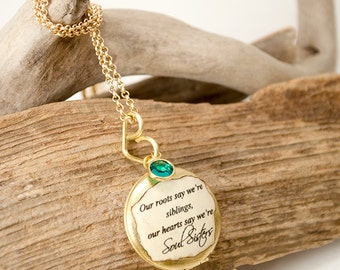 Soul Sister locket Sibling bond necklace