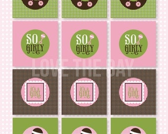 So Girly Baby Shower PRINTABLE Party Toppers (INSTANT DOWNLOAD) by Love The Day
