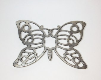 Butterfly Trivet Made In Italy Leonard Silverplate Silver Decorative Trivet 1