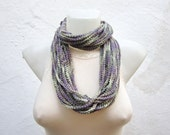 Chain Loop Scarf,Crochet Scarf infinity,Necklace,infinity Scarf