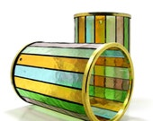 Stained Glass Pendants / Light Shades, Set of 2