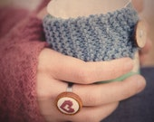 Hand Embroidered Mini Heart Ring