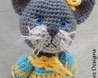 Crochet Pattern Darling Cat by Teri Crews instant download PDF format Crochet Toy Pattern