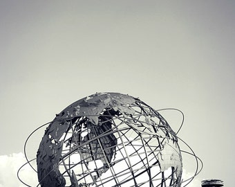 Unisphere and New York State Pavilion Photography Print, New York City Wall Art, NYC Photo
