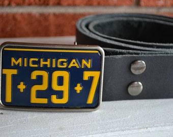 Michigan  License Plate Belt Buckle