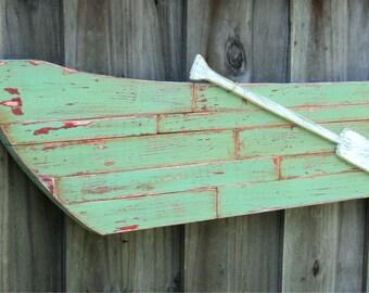 Rowboat Wall Hanging, Vintage Rowboat Art, Rowboat Picture, Fishing Boat, Wood Art, Wall Art, Lake House Decor, Old Rowboat, Wooden Boat