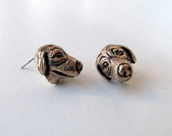 Dog post earrings golden retriever
