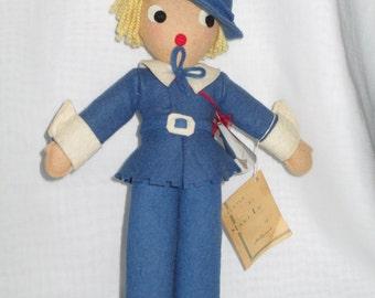 Cloth Doll/ Rag Doll/ Felt Doll/ Little Boy Blue/ Nursery Rhyme/ by Gatormom13 JUST REDUCED