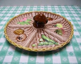 Tilso Tidbit Tray with Mushroom Toothpick Holder