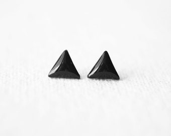 Geometric Triangle Black Stud Earrings BUY 2 GET 1 FREE