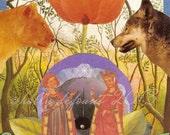 """The Lovers Sibylline Tarot Art Giclée Print 5 x 7"""" Matted"""