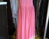 Lovely Pink Pleated Flowing Maxi Dress M-XL
