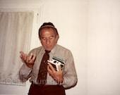 Digital Scan // Vintage // Color Photo // Uncle Heschy Gets A Polaroid Camera      0824
