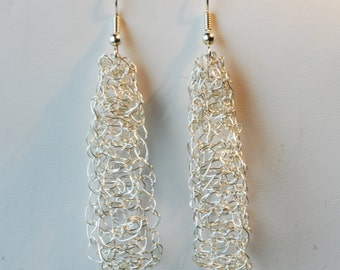 Silver Plated Crotchet Earrings