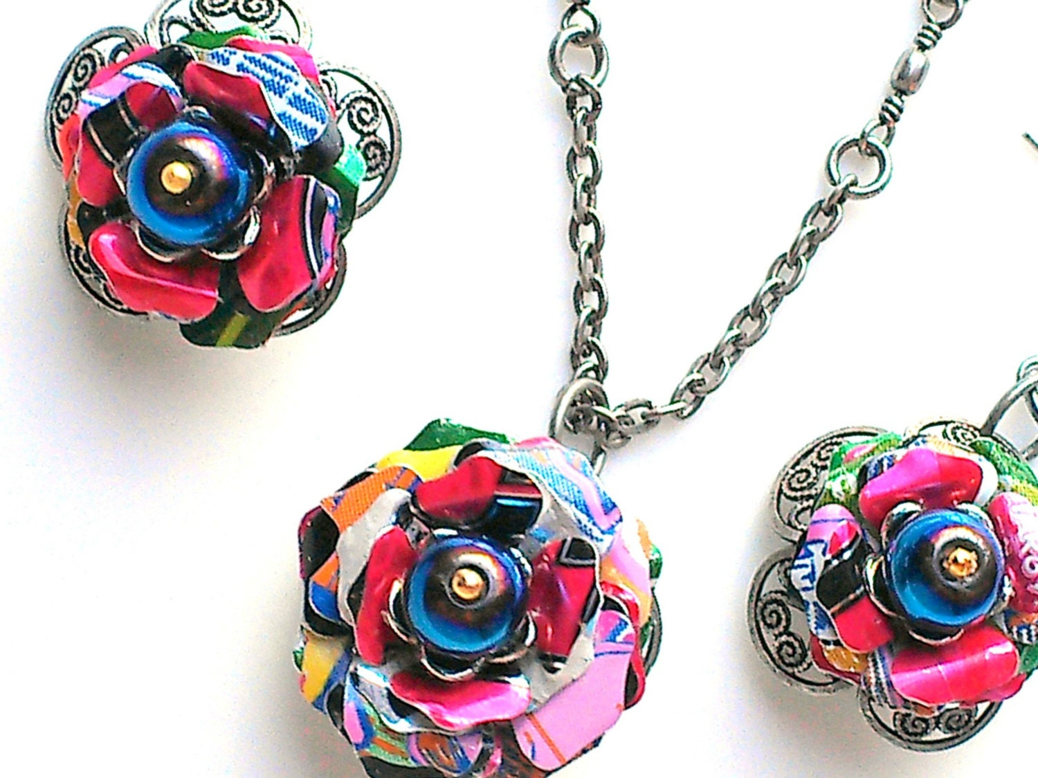 Sale Recycled Aluminum Can Jewelry Necklace Earrings Trending