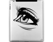 iPad - Gaze (Laptop Decal Removable Vinyl Laptop Sticker Computer Decal PC Apple Macbook Mac Geekery Wall Sticker Moustache)