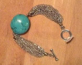 Chains and Turquoise Cowgirl Bracelet