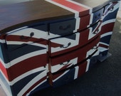 Contemporary Wood-top Union Jack dresser