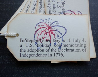 4th of July - Independence-Freedom - Gift - Hang Tags (6 plus 2 bonus)