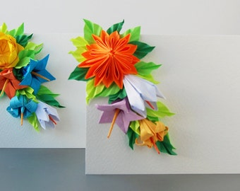 Set of 2 Origami Greeting Cards, Mother's day cards, Easter cards