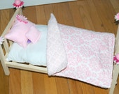 SALE! American Made Girl Doll Bed - Perfectly Pink Doll Bed - Fits AG Dolls and 18 inch dolls
